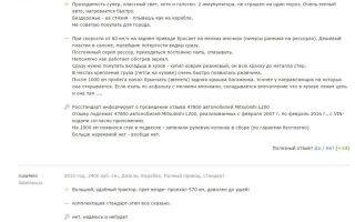 Комплектации митсубиси л200: технические характеристики