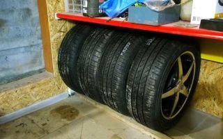 Как правильно хранить шины без дисков: в гараже и на балконе зимой