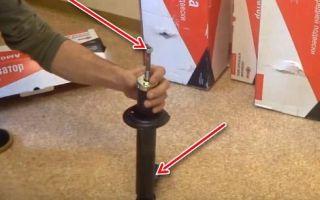 Как прокачать стойки амортизатора перед установкой