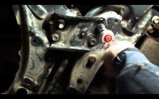 Передняя подвеска и сайлентблоки Тойота Королла 150: замена