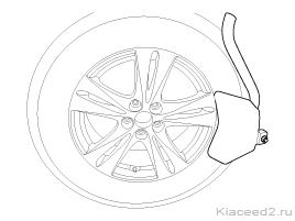 Датчики давления в шинах Киа Рио: установка, проверка