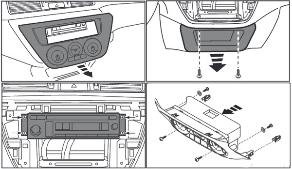 Камера заднего вида, магнитола на Митсубиси Лансер 9: замена, установка