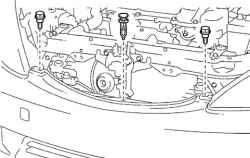 Бампер на Тойота Камри 40: как снять, заменить