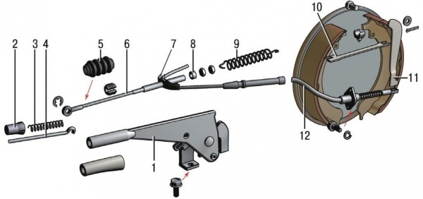 Ручник на Шевроле Круз: как подтянуть ручник, замена троса