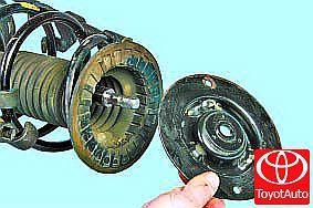 Амортизаторы на Тойота Королла 120: замена передних и задних стоек