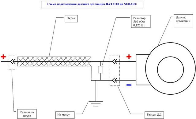 Датчик детонации Нива 21214: где находится, замена