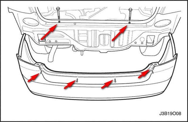 Бампер передний и задний на Шевроле Лачетти: как снять