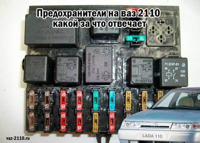 Предохранители на ВАЗ 2110: где находятся, замена