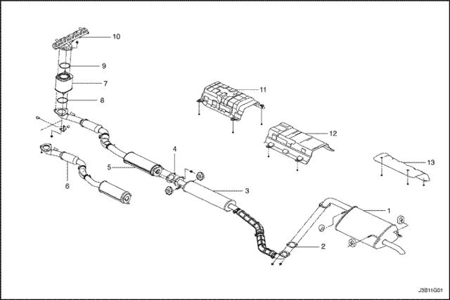 Глушитель Шевроле Круз: двойной выхлоп, схема