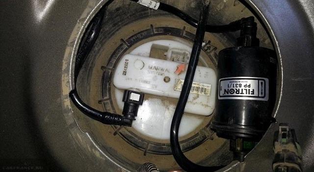 Топливный фильтр Рено Сандеро: где находится, замена