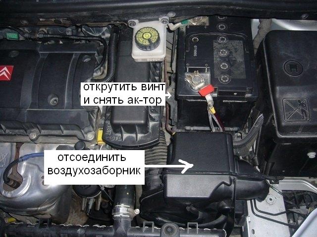 Воздушный фильтр cитроен c4: где находится, замена
