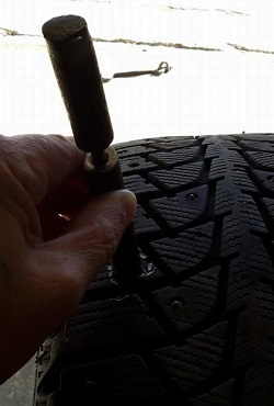 Ошиповка зимних шин своими руками без пневмопистолета
