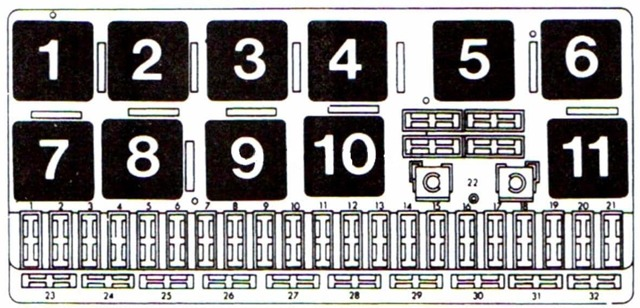 Предохранители Ауди 80 Б3: где находятся, замена