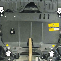 Защита картера на Митсубиси Лансер 9: выбор, установка