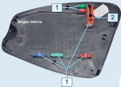 Предохранители на Лада Ларгус: где находятся, замена