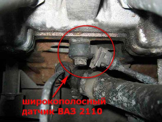 Датчик детонации ВАЗ 2115: где находится, замена