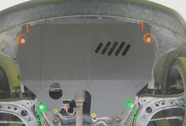 Защита двигателя на Фольксваген Поло седан: установка