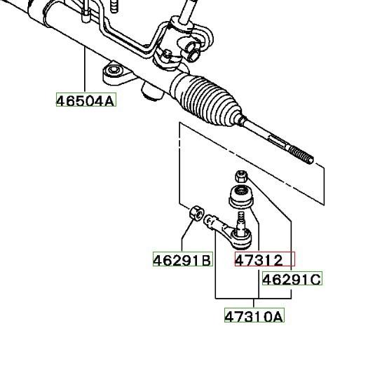 Рулевой наконечник на Митсубиси Лансер 9: выбор и замена