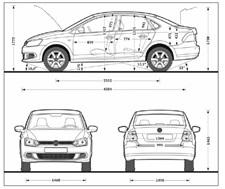 Багажник Фольксваген Поло: объем, размеры