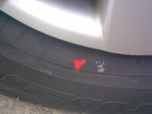 Цветные метки на шинах: что значат красные, желтые, зеленые и белые точки
