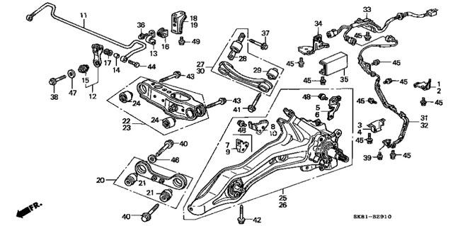 Рычаги и сайлентблоки на Хонда Аккорд 7: замена
