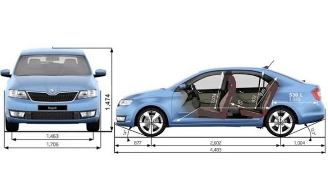 Багажник на Шкода Рапид: размеры, как увеличить объем, багажник на крышу