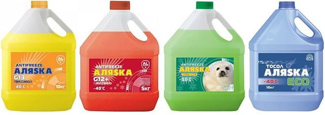 Тосол «Аляска»: технические параметры синего, желтого и красного антифриза, свойства незамерзающей жидкости