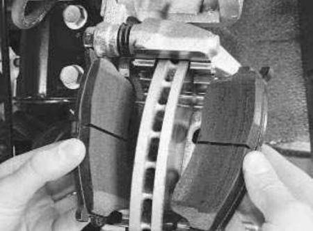 Тормозные колодки на Киа спектра: выбор и замена
