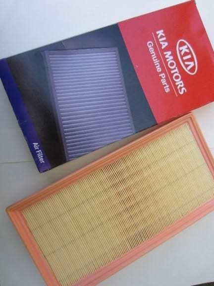 Воздушный фильтр Киа Спектра: где находится, замена